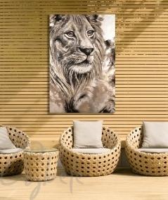 Décoration extérieure tête de lion dit Plénitude