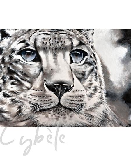 Toile animalière tête de tigre