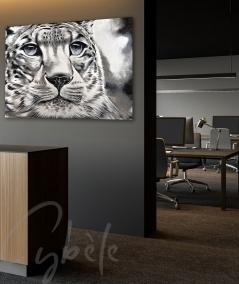 Décoration intérieure de bureau tête de tigre