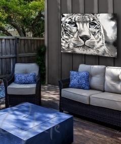 Décoration extérieure tête de tigre dit Maturité