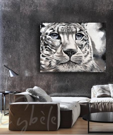 Décoration intérieure pour salon tête de tigre