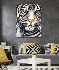 Décoration intérieure pour salon tête de tigre dit Muzo