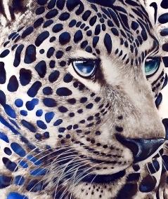Reproduction animalière tête de panthère dit Leo