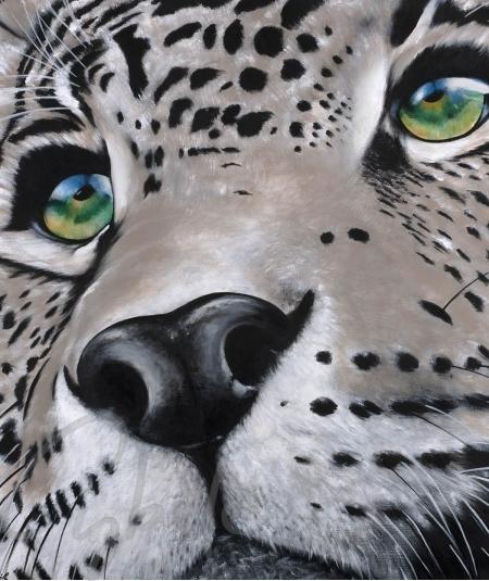 Représentation animalière panthère aux yeux verts