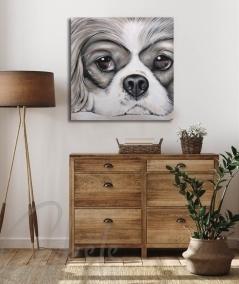 Décoration intérieure pour entrée tête de chien dit Caprice