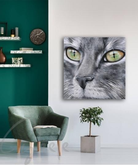Toile intérieure boudoir tête de chat dit Christal