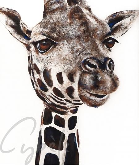 Peinture décorative girafe