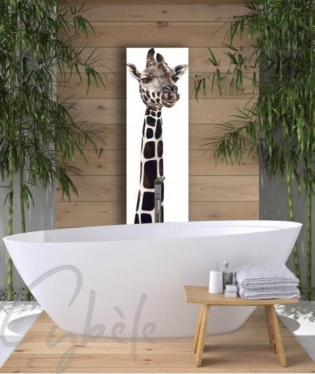 Représentation animalière salle d'eau girafe dit Sophie