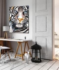 Décoration intérieure entrée tête de tigre nommé Muzo
