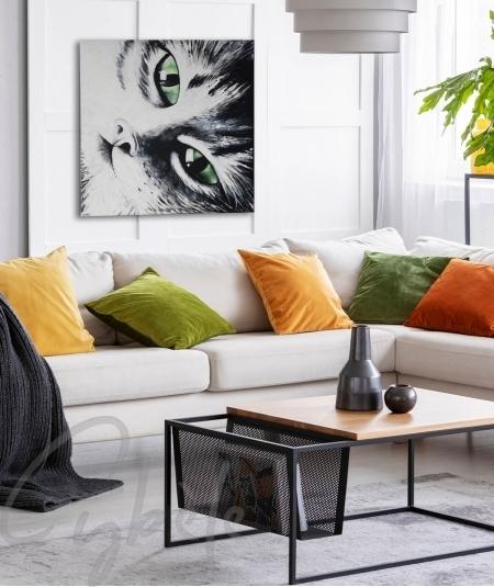 Décoration intérieure salon chat