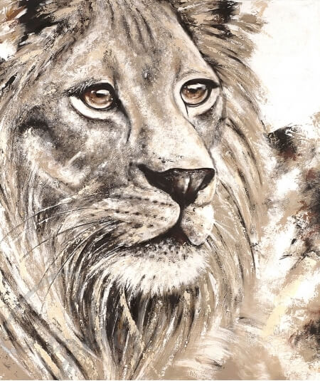 Décoration intérieure tête de lion dit Plénitude