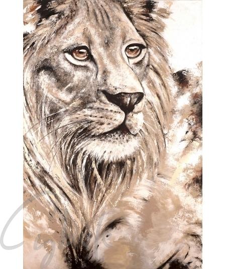 Représentation animalière tête de lion par Cybèle