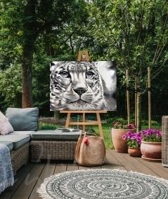 Décoration extérieure tête de tigre