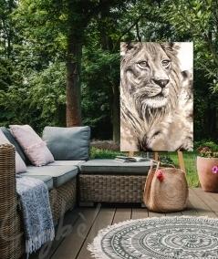 Reproduction animalière pour extérieur tête de lion