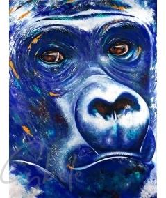 Reproduction tête de gorille bleu dit Blue Gorilla pas Cybèle