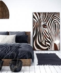 Reproduction animalière intérieure de chambre zèbre marron dit Solitaire